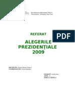 proiect alegeri prezidentiale 2009
