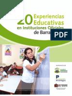 20 Experiencias Educativas en Instituciones Oficiales de Barranquilla