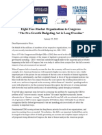 01-23-12 Coalition Letter - Support Pro-Growth Budgeting