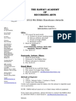 HARA e-blast and mailout Service 2012