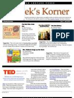 Kordek's Korner Jan 23, 2012