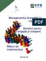 Managementul Diversitatii in Organizatii Beneficii Pentru Angajati Si Companii