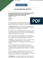 21-01-12 Inicia Registro de Aspirantes Del PRI Al Senado