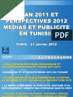 Bilan 2011 Et Perspectives 2012 Medias Et Publicite en Tunisie