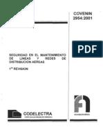 118 Ie Seguridad Lineas Aereas Covenin 2954-01
