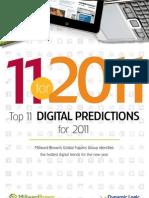 Top 11 tendencias digitales para 2011 (Millward Brown -Dynamic Logic)