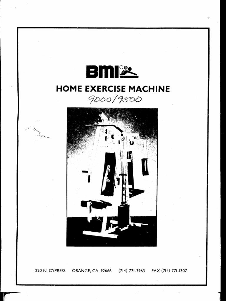 Bmi 9500 manual