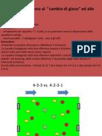 Allenarsi Nel Sistema Al Cambio Di Gioco Ed Alle Scalate Difensive