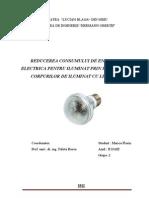 Reducerea Consumului de Energie Electrica Pentru Iluminat Prin Folosirea Corpurilor de Iluminat Cu Led-uri