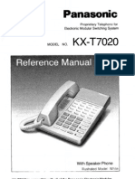 Panasonic KX-T7020 Reference Guide