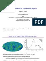 Anthony Challinor- CMB constraints on fundamental physics