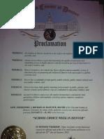City of Denver School Choice Proclamation