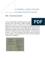 Diagnosis of Mental Illness for New Age Religious and Political Beliefs, essay by Dr Romesh Senewiratne