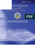 09-109 Dod Narcoterrorism Contracts