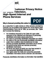 2012 Comcast Privacy Notice