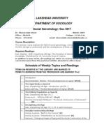 Sociology 5617 WA 2003-2004 Outline