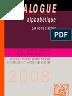 Catalogue Vrin 2007-2008