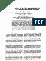 Kelli R. 2010_An investigation of elemantary Preservice Teachers´Reading Instructional