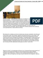 Minc Anuncia Criacao Da Forca Federal de Combate Aos Crimes Ambient a Is