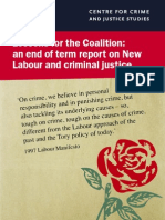 New Labour and Criminal Justice Report