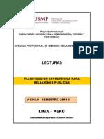 Lecturas Planificación Estrategica para RRPP