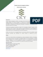 Principales centros de investigación en México