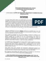 Dossier de Reconnaissance Des Acquis