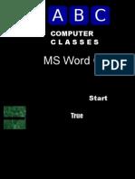 MS Word Quiz 2003