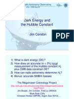 Jim Condon- Dark Energy and the Hubble Constant