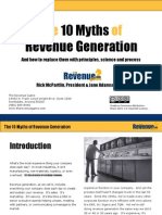 The 10 Myths of Revenue Generation