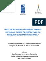 2004 Reflexoes Pesquisa Qualitativa I Congresso ABEP