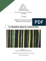2 Le Bambou Dans La Construction