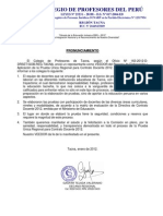 PRONUNCIAMIENTO CPPe Examen Para Contrato Docente 2012