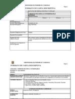 Carta Descriptiva Nuevo Programa de La Materia 2010 Corrientes Filosoficas Contemporaneas