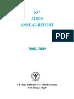 AIIMS Annual Repront 2008-2009 | Doctor Of Medicine | Postgraduate