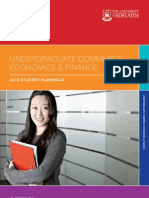 Undergraduate Commerce, Economics and Finance 2012 Handbook
