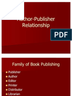 Author Publisher Relationship