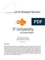 A Framework for Emergent Narrative