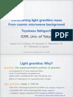 Toyokazu Sekiguchi- Constraining light gravitino mass from cosmic microwave background