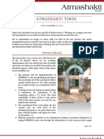 Atmashakti Trust - Progress Report Dec 2011