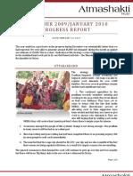 Atmashakti Trust - Progress Report Dec 2009