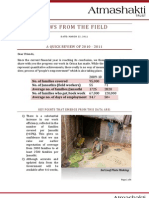 Atmashakti Trust - Progress Report March 2011