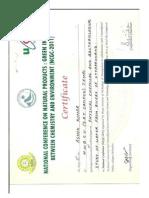 Certificate Ashok2