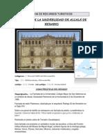 Ficha de Recursos Turisticos Fachada Universidad