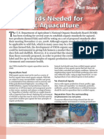 Standards Needed for Organic Aquaculture