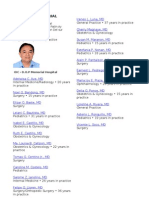 DO PLAZA List of Physicians