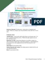 Unit 2- Diving Equipment