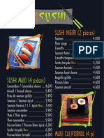 Ben Sushi Menu
