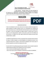 Moción de IU Férez contra recortes en GEACAM. Aprobada en pleno ordinario Diciembre 2011