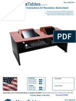 Revolution Computer Desk  (RS Series) - Assembly Instructions